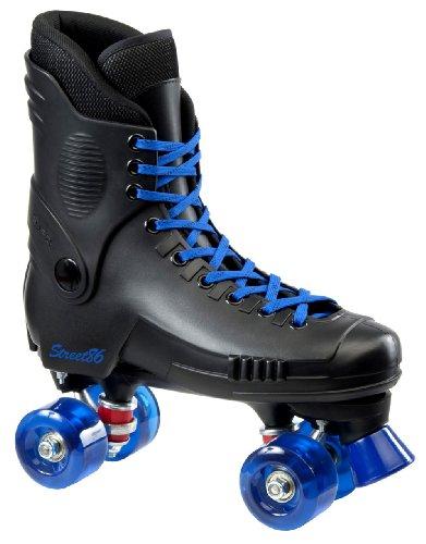 SFR Street 86 Roller Skates - Clear Blue Wheels - Size UK6