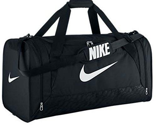 New Nike Brasilia 6 Large Duffel Bag Black/Black/White (Nike Brasilia 6 Large compare prices)