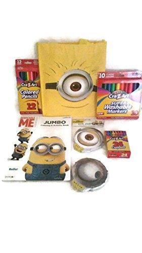 Despicable Me Minion Made Travel / Car Activity Kit. Jumbo Coloring ...