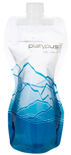 Platypus Soft Bottle With Closure Cap, Mountains, 0.5-Liter