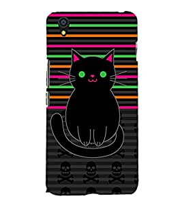 Danger Skull Sharp Cat Cute Fashion 3D Hard Polycarbonate Designer Back Case Cover for OnePlus X :: One Plus X :: One+X