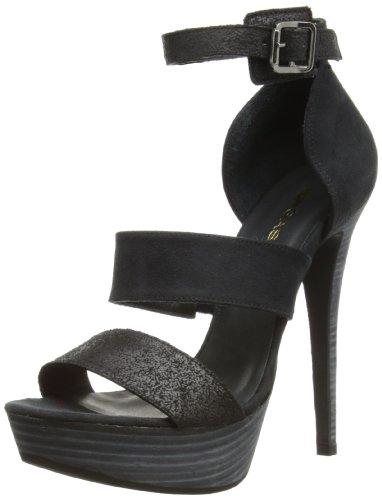 Gas Footwear Firestar, Scarpe con cinturino alla caviglia donna, Nero (nero), 40