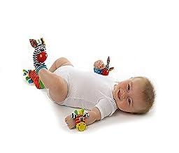 4pcs (2 Pcs Waist+2 Pcs Socks) Cute Animal Infant Baby Kids Hand Wrist Bells Foot Sock Rattles Soft Toys