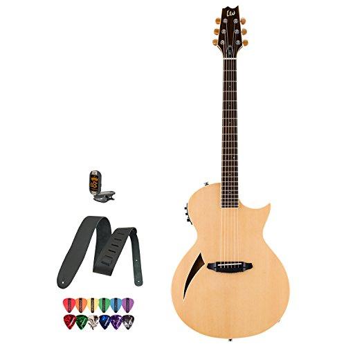 Esp Ltd Arc-6 Natural Acoustic Electric Guitar W/Accessories