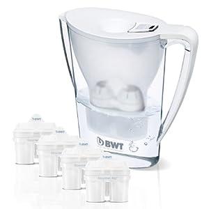 BWT Tischwasserfilter 2.7 Liter inkl. 4 Kartuschen, weiß