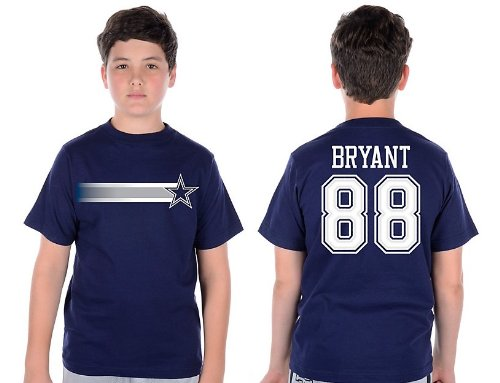 Dallas Cowboys Dez Bryant Navy Youth Stripe Away Name and Number T-Shirt Youth Size: Youth XL at Amazon.com