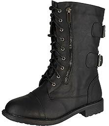 Top Moda Women Pack-72 Boots,Black,8