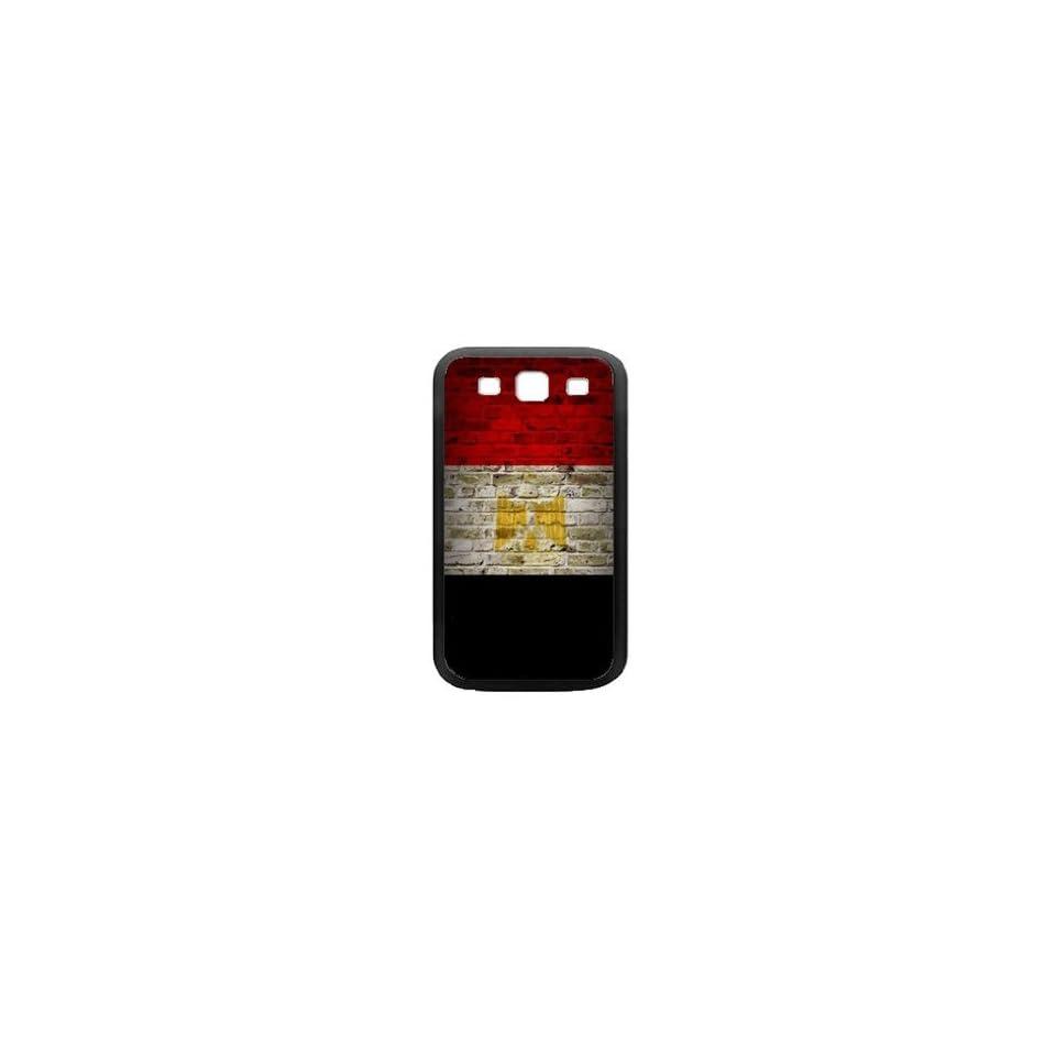 Egypt Flag Samsung Galaxy S3 Black Case Brick Wall Design
