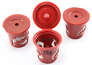 STK's Reusable K-Cups 3 Count for Keurig K-Cup Brewer K75, K45, B60, B70, B130, K40, B40, K60, B145, B150, B140, K150, K70, B30, K145, K155, B155, B44, B200, B3000, replaces Ecobrew, Solofil, and Kuerig My refillable K cup from SterlingTek