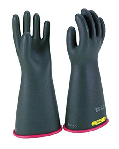 """Salisbury By Honeywell Size 10 Black And Red 14"""" Type I Natural Rubber Class 1 High Voltage Electrical Insulating Linesmen'S Gloves"""