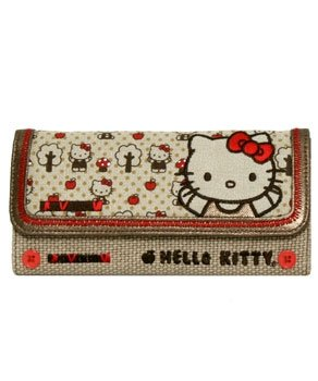 Hello Kitty Vintage Kitty and Apples Wallet