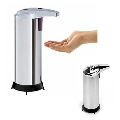 LemonBest® Stainless Steel Automatic Soap Dispenser, Touchless Automatic Sensor Pump 280ml