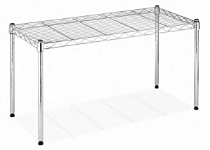 Whitmor 6054-585 Supreme Wide Stacking Shelf, Chrome