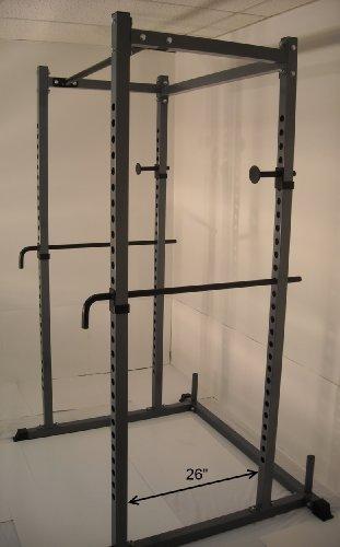 Power Rack New Squat Deadlift Hd Lift Cage Bench Racks Chrome Safety