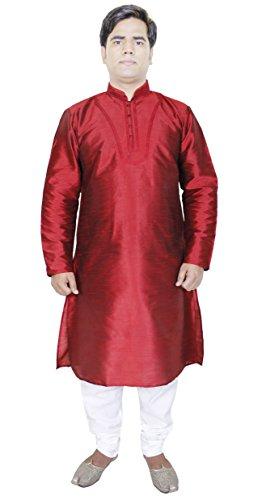 Mode-Outwear-Kurta-Pajama-Shirt-hommes-Indian-robe-de-marie-rouge