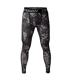 Imported Men Exercise Legging Running Tight Trousers Workout Sport Pants Grey S
