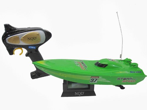 Remote Control RC Racing Speed Boat Green