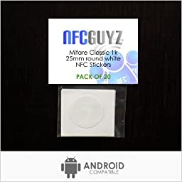 20 Mifare Classic NFC Sticker Tags from NFCGuyz