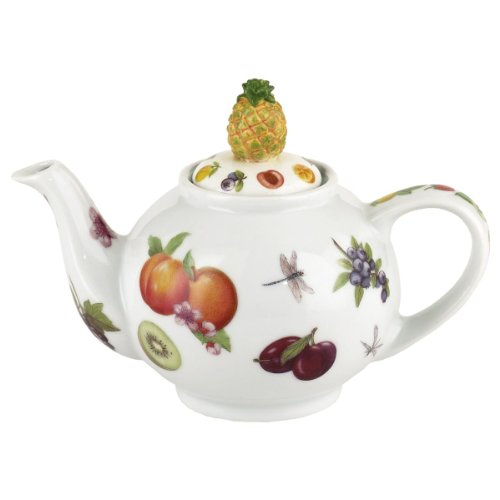 "Welcome ""Hospital-I-Tea"" Teapot 2 Cup, 18Oz (Pineapple Lid) By Cardew Design"