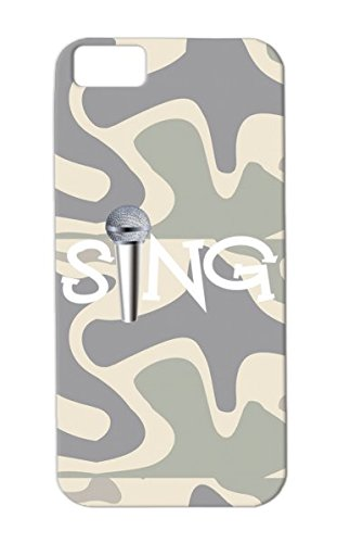 Anti-Scuff White Case For Iphone 5C Sing With Microphone Vocalist Music Band Singer Music Choir Musician Singing Rock Metal Musical Sing Chorus