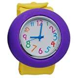 Yellow & Purple Rubber Watch