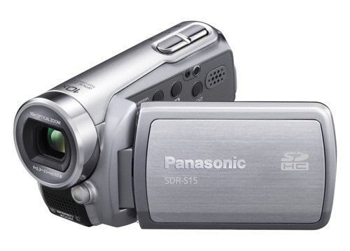 Panasonic SDR-S15 Flash Memory Camcorder With SD Card Slot - Silver