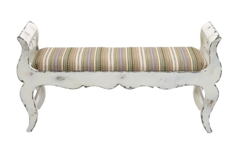 Deco 79 Wood Fabric Bench 47 by 24-Inch