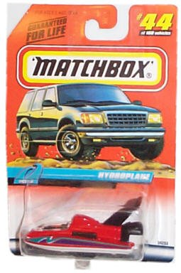 Matchbox 1998-44 of 100 Series 9 Ocean Hydroplane 1:64 Scale - 1