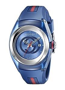 Gucci Unisex-Armbanduhr SYNC Analog Quarz Kautschuk YA137304
