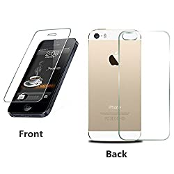 RKMOBILES Front and Back Premium Tempered Glass for Apple Iphone 5 /5S