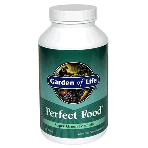 Garden of Life Perfect Food Super Green Formula, Caplets, 300-Count Bottle