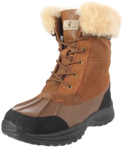 BEARPAW Men's Stowe II Lace-Up Boot,Cognac,8 M US