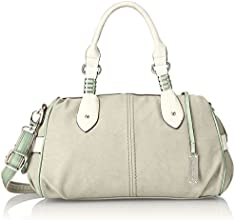 Gussaci Italy Women's Handbag (Light Grey) (GC139)