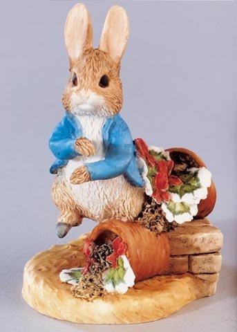 Beatrix Potter Miniature Figurine - Peter Rabbit With Plant Pot (A1312) front-44711