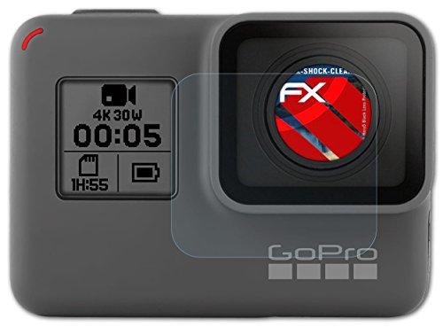 3 x atFoliX Panzerfolie GoPro Hero5 Black (Lens Protection) Folie - FX-Shock-Clear ultraklar und stoßabsorbierend