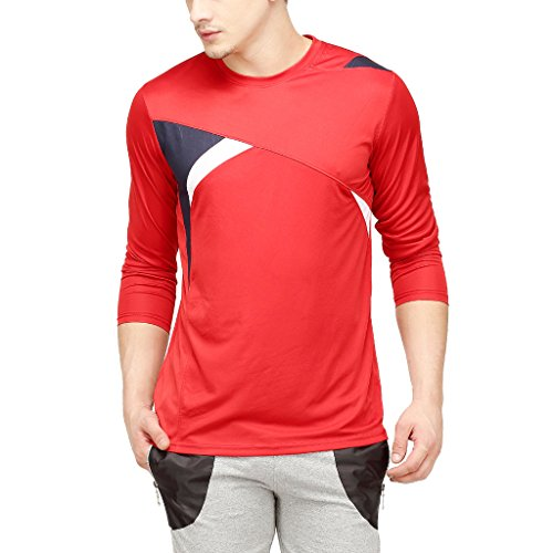 Campus-Sutra-Men-Odourless-Full-Sleeve-Round-Neck-Red-Dryfit-Jersey
