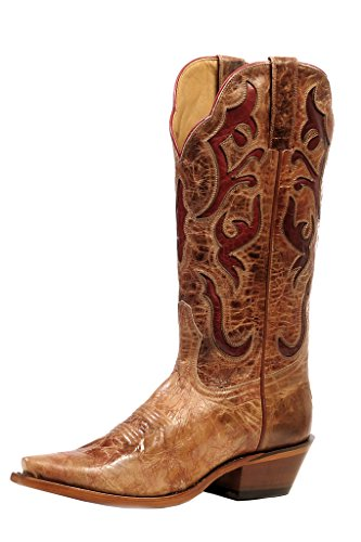 Rugged Country Western Boots Womens Snip Marble 7.5 1C Vitro Miel 0835