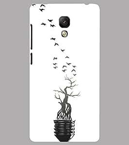 Back Cover for Xiaomi Mi4 Bulb Tree