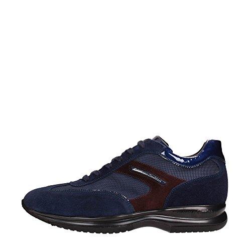 Cristiano Gualtieri 458 AI16 Sneakers Uomo Scamosciato Blu - Bordo Blu - Bordo 44