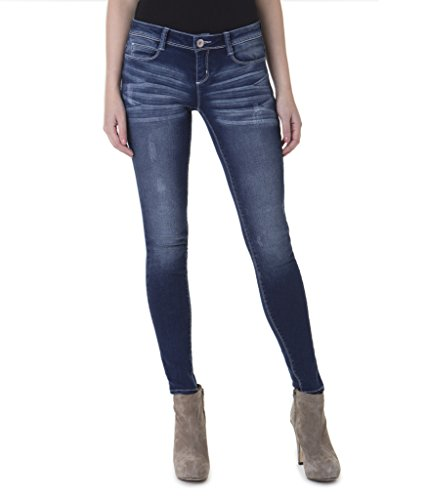 Jordache Juniors Skinny Jeans - Low Rise, Women's Fitted, Light Stretch Denim (Maroon Colored Nail Polish compare prices)