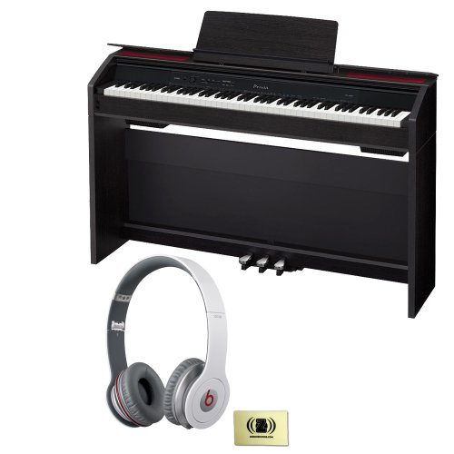 Casio Privia Px-850 88-Key Digital Piano Bundle With Beats By Dr. Dre Solo Hd On-Ear Headphones (White) And Custom Designed Zorro Sounds Instrument Cloth