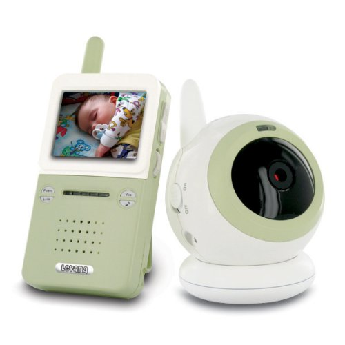 Levana BABYVIEW20 Interference-Free Digital Wireless Video Baby Monitor with Night Light Lullaby Camera