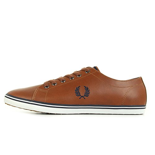 Fred Perry Kingston Leather Uomo Sneaker Marrone Chiaro