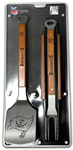 SPORTULA 3-PIECE BBQ SET - TAMPA BAY BUCCANEERS by SPORTULA PRODUCTS