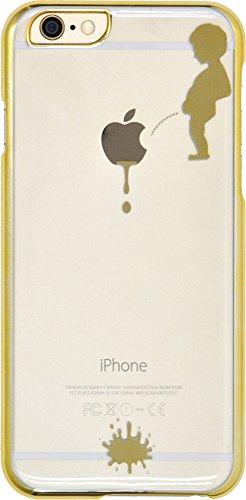 PLATA iPhone 6 iPhone6s 4.7インチ 用 リンゴマーク アート ケース iPhone 6 6s 【 小便小僧 ゴールド 】 IP6-5024GD