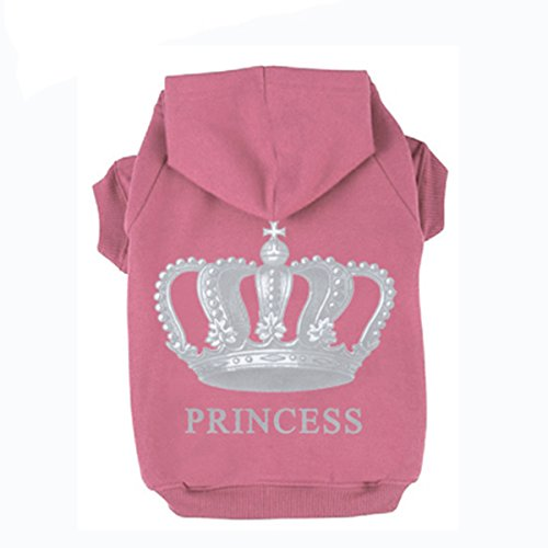 PetTa Princess Dog Cat Fleece Sweatershirt Hoodies Pink XXXL