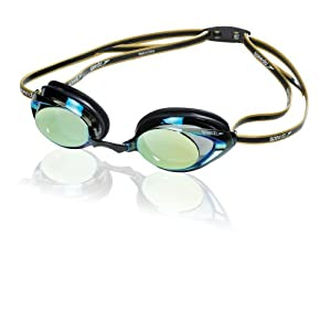 Speedo Vanquisher 2.0 Mirrored Swim Goggle (Black/Gold)