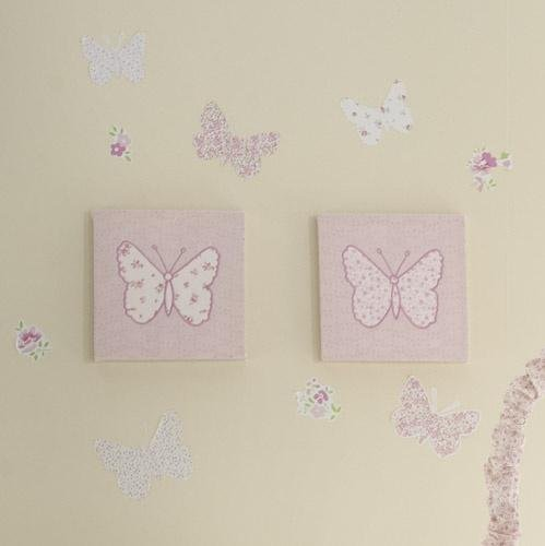 Laura Ashley Baby Bella 2 Piece Wall Art Set
