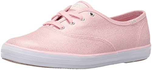 Keds Women's Taylor Swift Metallic Canvas Fashion Sneaker, Light Pink, 9 M US