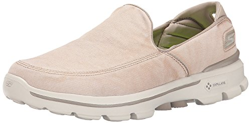 Skechers Performance Men's Go Walk 3 Unwind Slip-On Walking Shoe, Stone, 10.5 M US